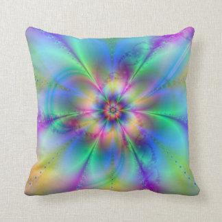 Beaux effets élégants d'art de fractale de fleurs coussins carrés