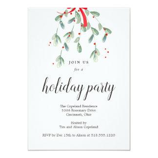 Beaux invitations de fête de vacances de Noël de