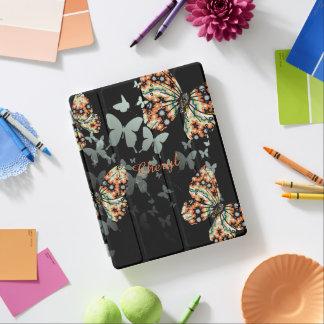 Beaux papillons orientaux lunatiques protection iPad