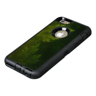 Beaux pins de fractale pendant la nuit brumeuse de coque OtterBox iPhone 6 et 6s plus