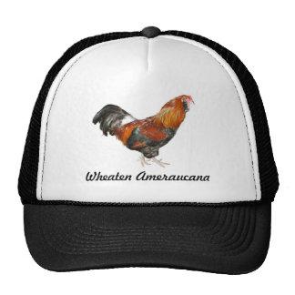 Beaux poulets blonds comme les blés d'Ameraucana Casquettes De Camionneur