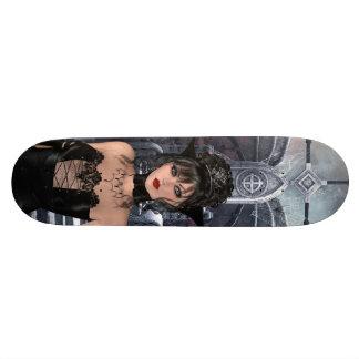 Beaux reine et trône gothiques skateboard old school 18,1 cm