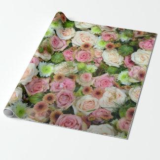 Beaux roses papier cadeau noël