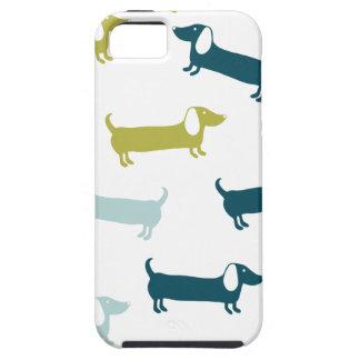 Beaux teckels dans de grandes couleurs iPhone 5 case
