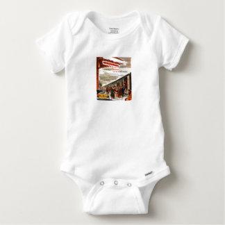 Bébé 1947 de Noël de chemin de fer de New Haven T-shirt