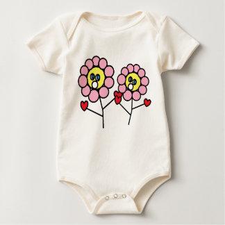 Bébé adorable de conception de fleurs de rose body