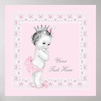 Bébé adorable de princesse Pink Poster