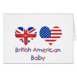 Bébé américain britannique carte de vœux