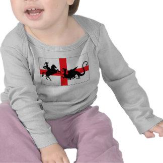 Bébé anglais de drapeau du jour de St George T-shirts