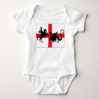 Bébé anglais de drapeau t-shirts