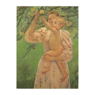 Bébé atteignant pour Apple par Mary Cassatt Impressions Sur Bois