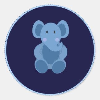 Bébé : Autocollant de jouet bourré par éléphant