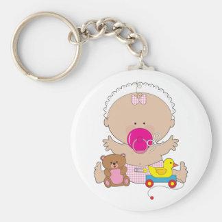 bébé avec la tétine porte-clés