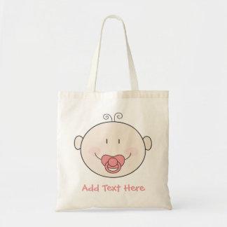 Bébé avec la tétine rose sacs en toile