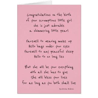 Bébé bienvenu carte de vœux