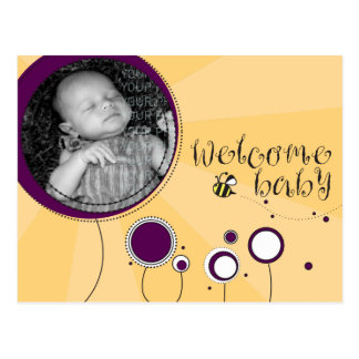 Bébé bienvenu carte postale