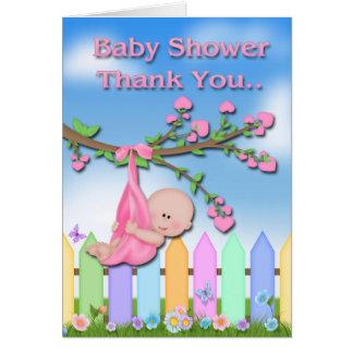 Bébé - carte de remerciements de baby shower de