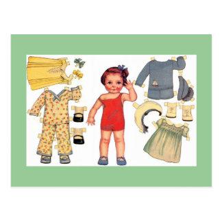 Bébé - cartes postales de papier de poupée de