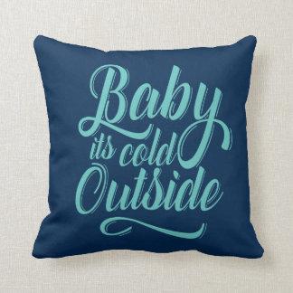 Bébé c'est carreau extérieur froid coussin
