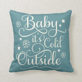 Bébé c'est carreau froid de vacances de coussin