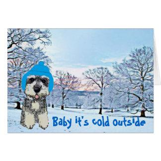 Bébé c'est extérieur froid cartes de vœux