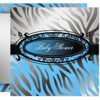 bébé chaud du zèbre | de rose de mamans de carton d'invitation  13,33 cm