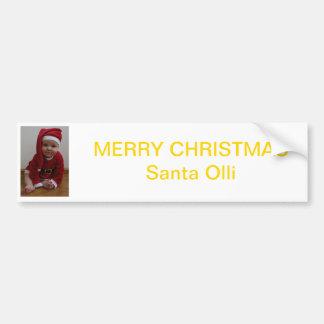 Bébé Christmas Santa Autocollant De Voiture