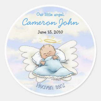 Bébé d'ange - providentiel sticker rond