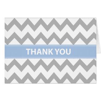 Bébé dans le carte de remerciements bleu