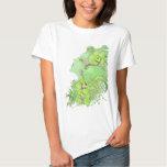 Bébé d'art d'imaginaire - poupée T - le Faery vert T-shirts