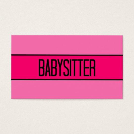 Bb De Babysitter Et Carte Visite Roses