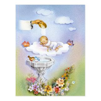 Bébé de baptême de baptême cartes postales