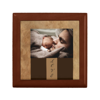 Bébé de cadre de tableau petite boîte à bijoux carrée