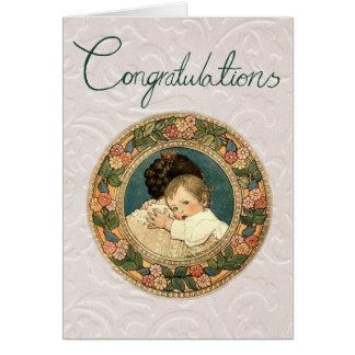 Bébé de carte de voeux de félicitations nouveau