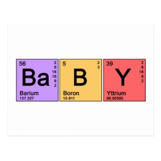 Bébé de chimie carte postale