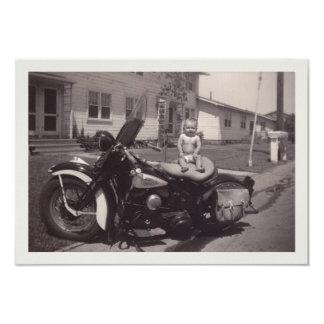 bébé de cycliste carton d'invitation 8,89 cm x 12,70 cm