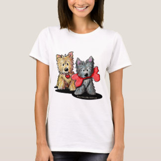 Bébé de duo de Terrier de cairn - T-shirt de
