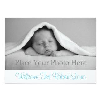 Bébé de faire-part de naissance carton d'invitation  12,7 cm x 17,78 cm