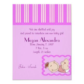 Bébé de faire-part de naissance
