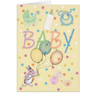 Bébé de félicitations de bébé nouveau carte de vœux