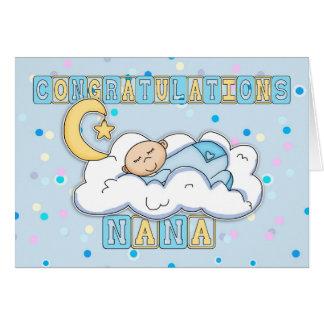 Bébé de félicitations de Nana nouveau Carte De Vœux