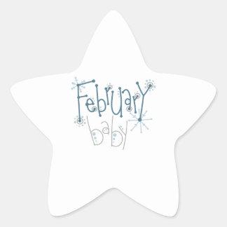 Bébé de février sticker étoile