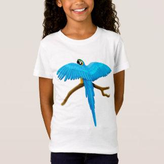 Bébé de filles d'ara de bleu et d'or - T-shirt de