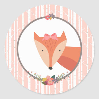 Bébé de Fox Sticker Rond