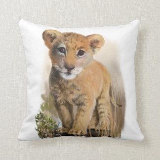 Bébé de lion oreillers