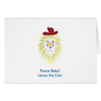 Bébé de paix ! Lenny les cartes de note de lion