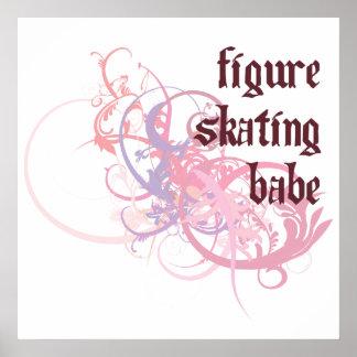 Bébé de patinage artistique posters