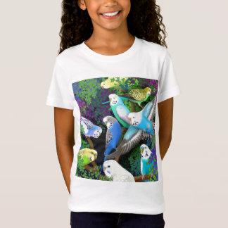 Bébé de perruches de perruche et de filles de T-Shirt