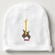 Bébé de roche. Guitare de musique de rock Bonnet De Bébé