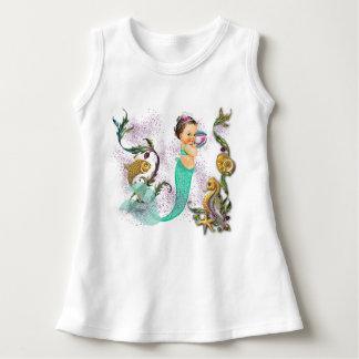Bébé de sirène robe sans manche